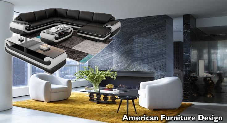 American Furniture Design: Contemporary Living Space Furniture